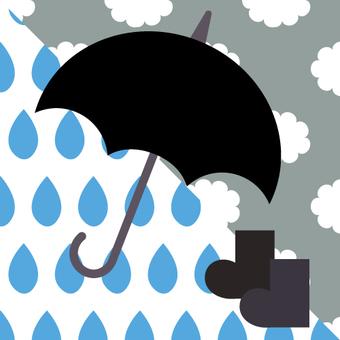 Umbrella (rain chikemaku mark)