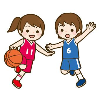 State of game of basketball (girl)