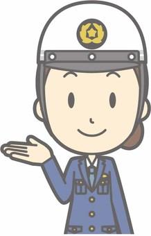 Police officer female a - helmet white - bust