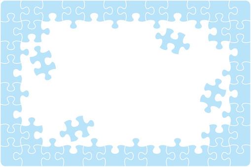 Puzzle frame blue
