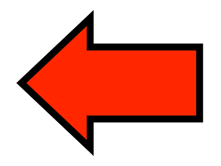 Arrow direction guide graphic red