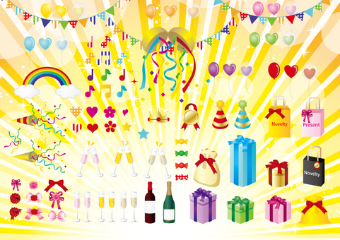 Party Supplies Illustrations