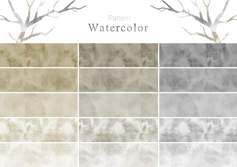 Watercolor pattern swatch part 9 cloudy color