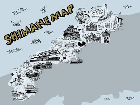 SHIMANE MAP Illustration