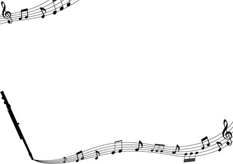 Flute / note frame