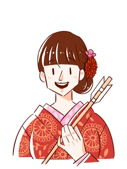 A woman who went to Hatsumode