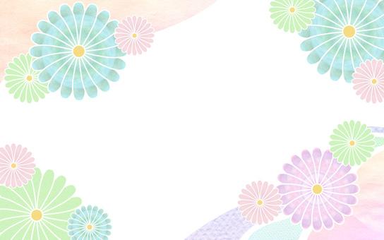 꽃 무늬 일본식 디자인 카드