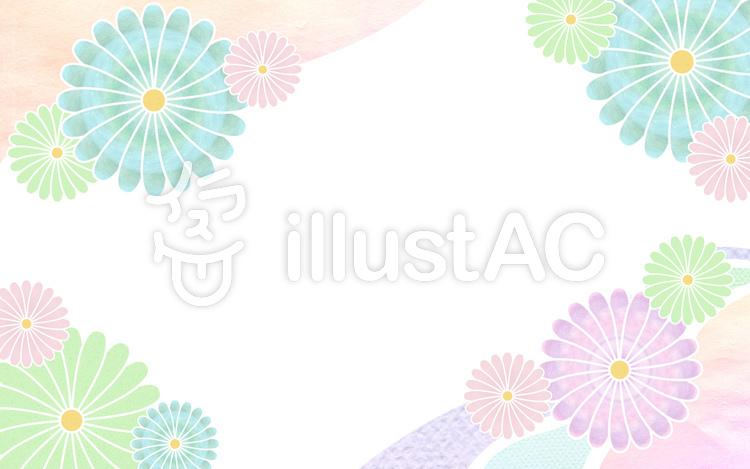 花模様和柄カードイラスト No 1042896無料イラストならイラストac