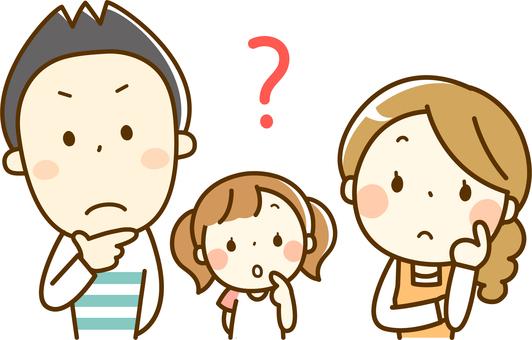 Three families feeling doubt