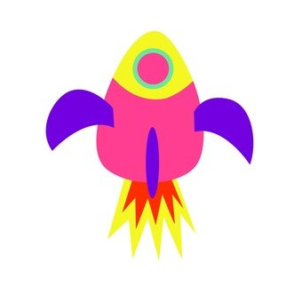 Purple and pink rocket