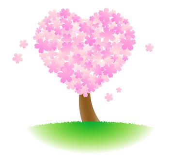Heart shaped cherry tree
