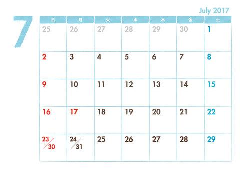 Calendar 2017.07