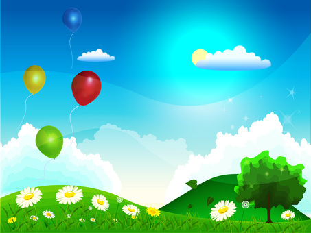 Balloon and spring view