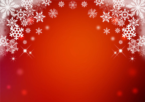 Snow crystal _ red background