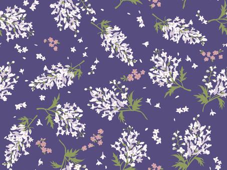 Flower pattern delphinium