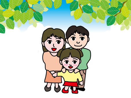 Four seasons of parent and child (2) Summer fresh green