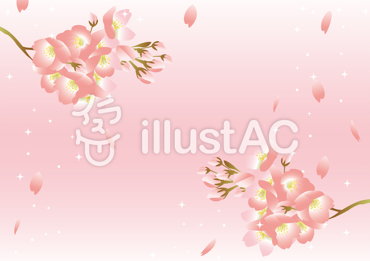 桜 背景 ピンクのイラスト
