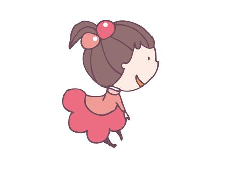 Fille de vêtements roses