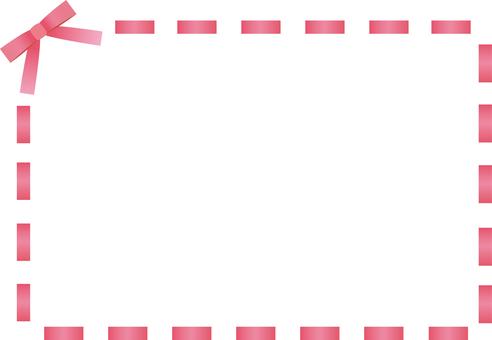 Ribbon stitch frame <red>