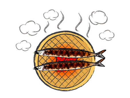 Japanese style ingredients Autumn taste Salted grilled seasoning
