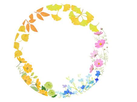 Autumn plant frame