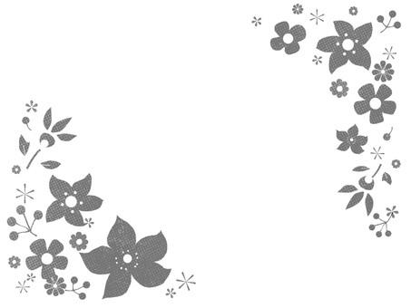 Northern European-style monochrome flower