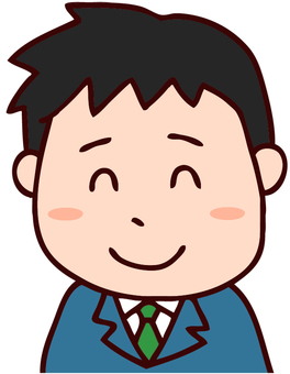 A smiley office worker illustration