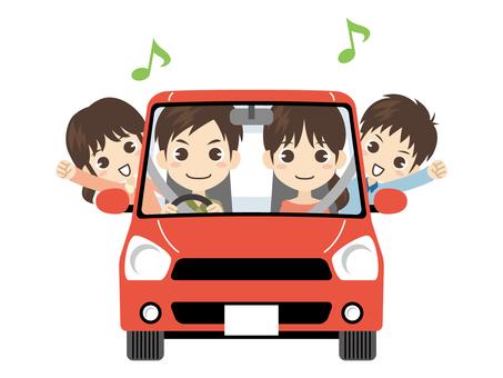 B480_家族と車_ドライブ