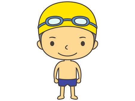 Swimming person A1