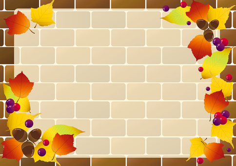 Fall brick wall frame