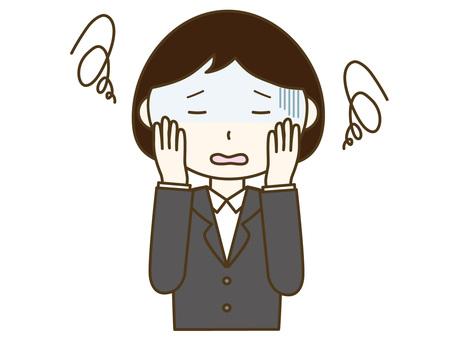 Women suffering from stress