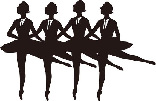 Business Silhouette Ballerina