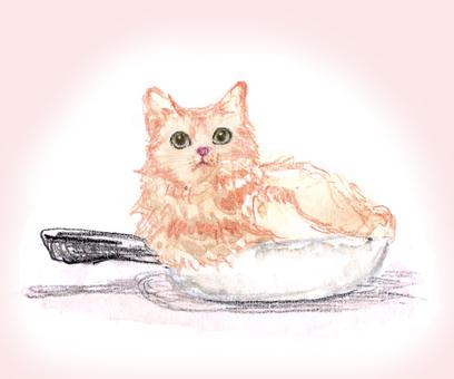 Hot pot cat cat hand drawn