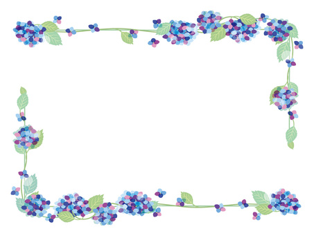 Hydrangea frame 5
