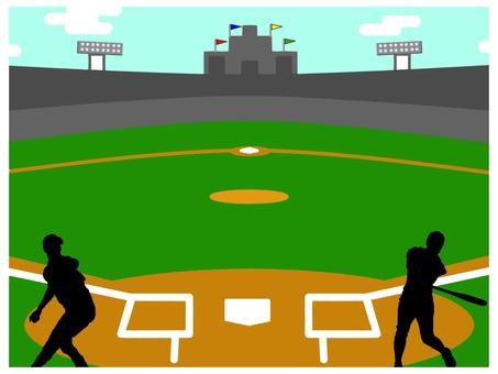 Baseball ground players