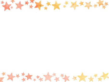 Watercolor star wallpaper ①