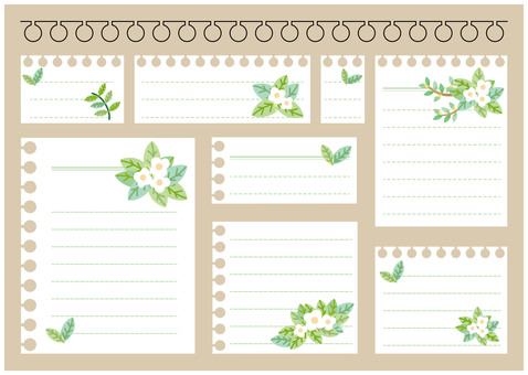 Note paper 01 (flowers)