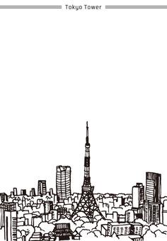 Landscape (Tokyo Tower · Postcard)