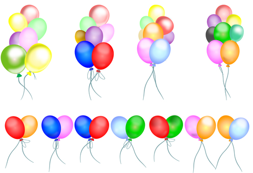 Balloons filled material 02