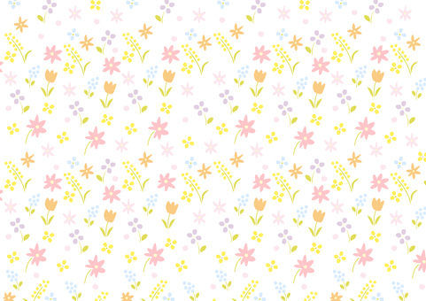 Hand painted floral pattern background