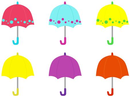 Various umbrellas