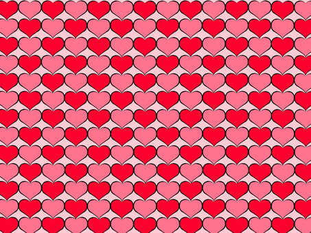 Heart Wall Red Pink Background White