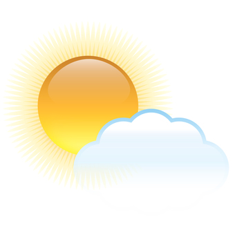 <Weather> Sun, sunny occasionally cloudy