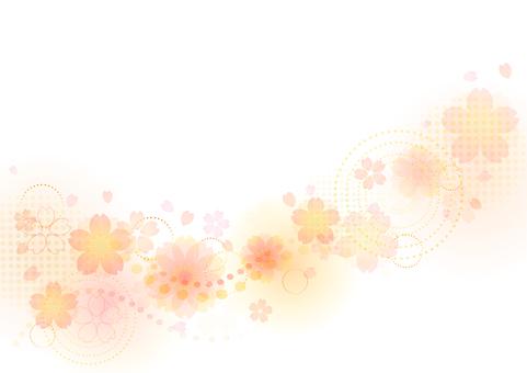 Cherry blossom material 337