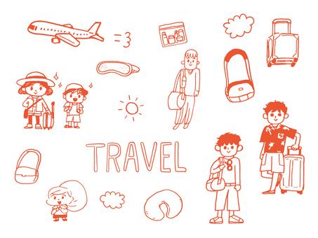 Travel set (Orange)