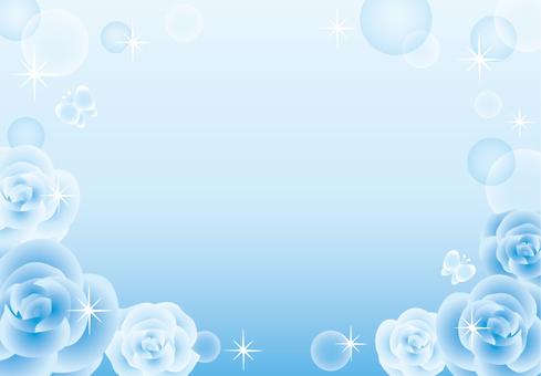 Rose sparkling frame (blue)
