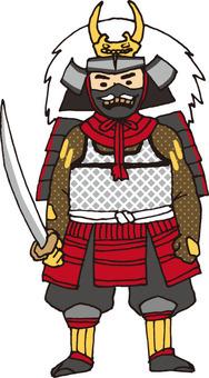Military commander (Takeda Shingen · cheek pad equipped)