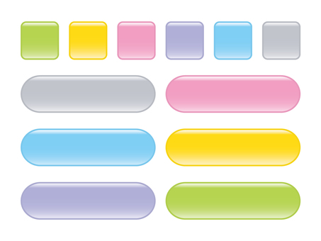 Pastel 6 color button material 2