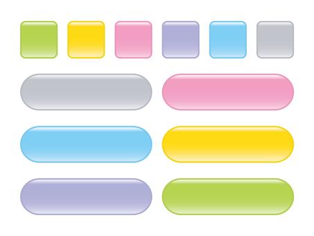柔和的6色按鈕材料2