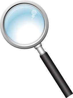 Magnifying glass (black)